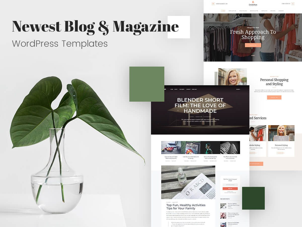 Newest Blog and Magazine WordPress Templates for Multiple Subjects