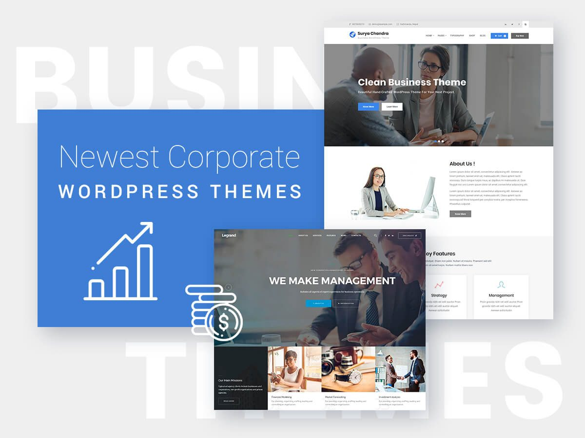 Newest Corporate WordPress Themes for Multiple Types of Businesses
