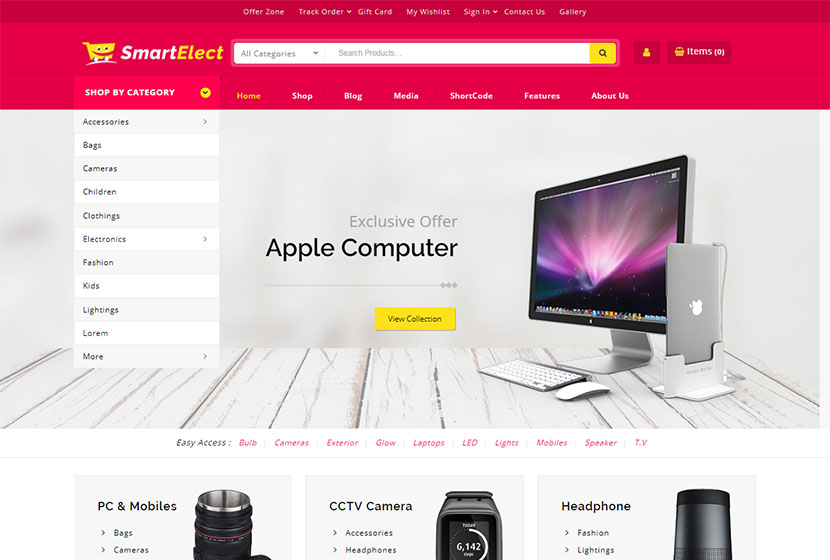 Ecommerce Home Decor Template WordPress