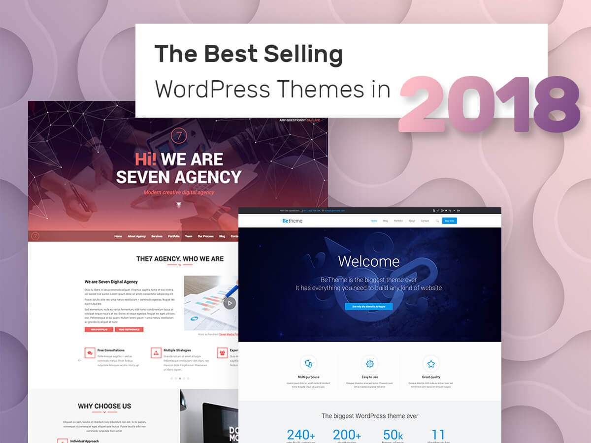 The Best Selling WordPress Themes in 2018