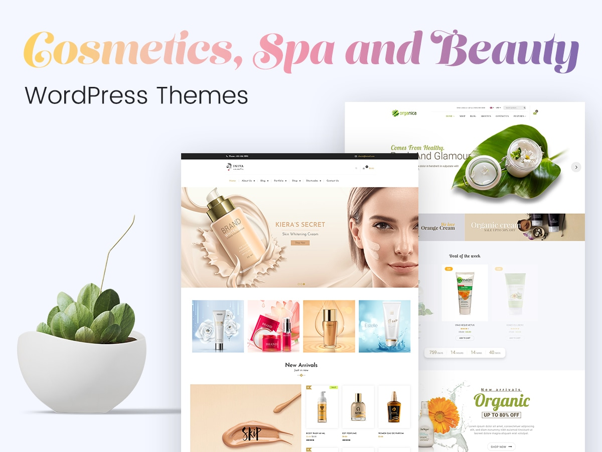 Cosmetics, Spa and Beauty WordPress Themes for Make-Up Artists and Beauty Salons