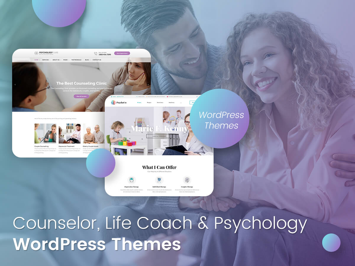 Counselor, Life Coach and Psychology WordPress Themes for Harmony and Mental Health