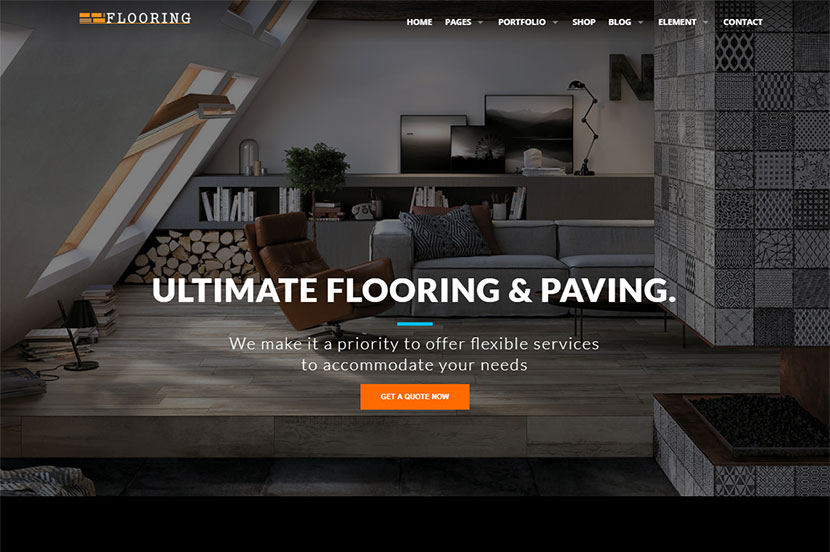 Painting Tiling Flooring And Interior Wordpress Themes Wp Daddy