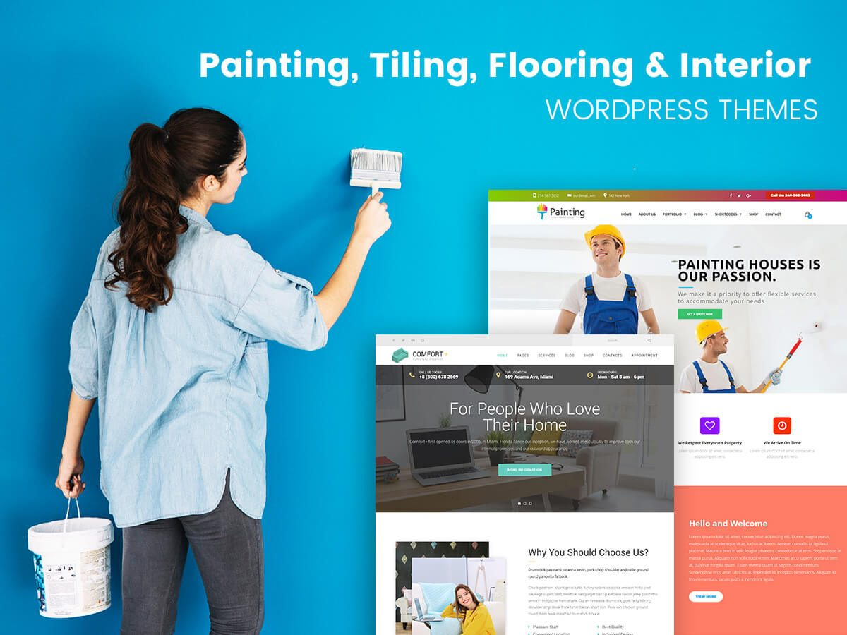 Painting, Tiling, Flooring and Interior WordPress Themes for February 2018