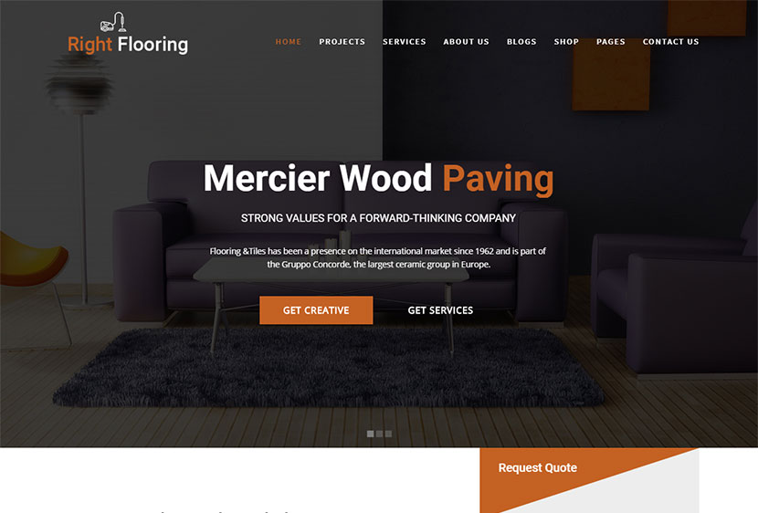 Flooring Paving And Tiling Services Wordpress Theme Right