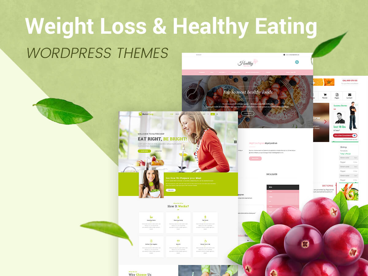 Weight Loss and Healthy Eating WordPress Themes for Dietitians and Health Coaches