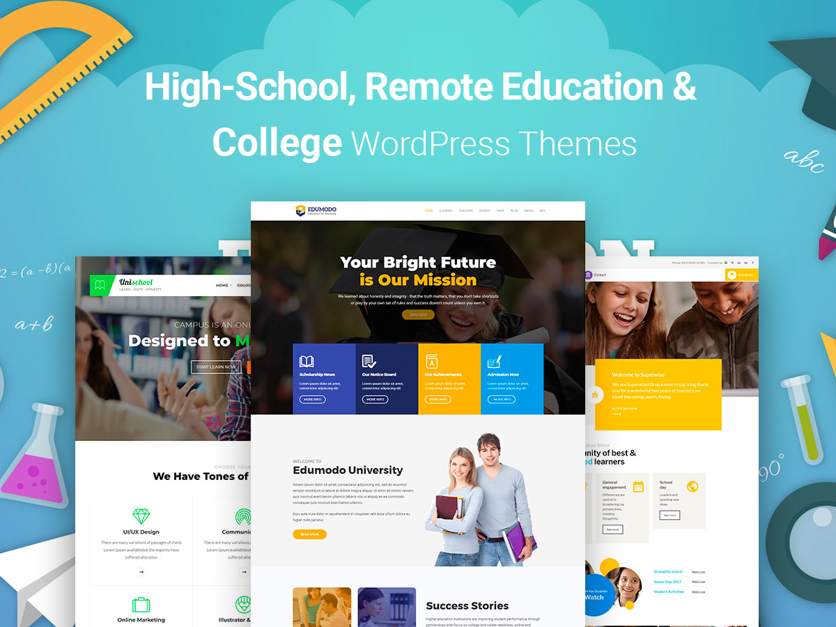 High-School, Remote Education and College WordPress Themes for March 2018