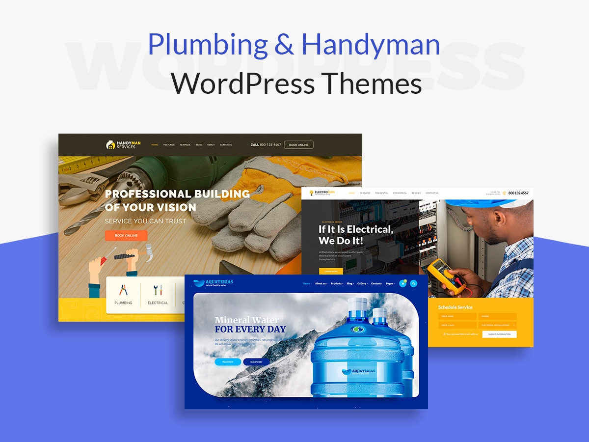 Plumbing and Handyman WordPress Themes for Home Services Related Websites