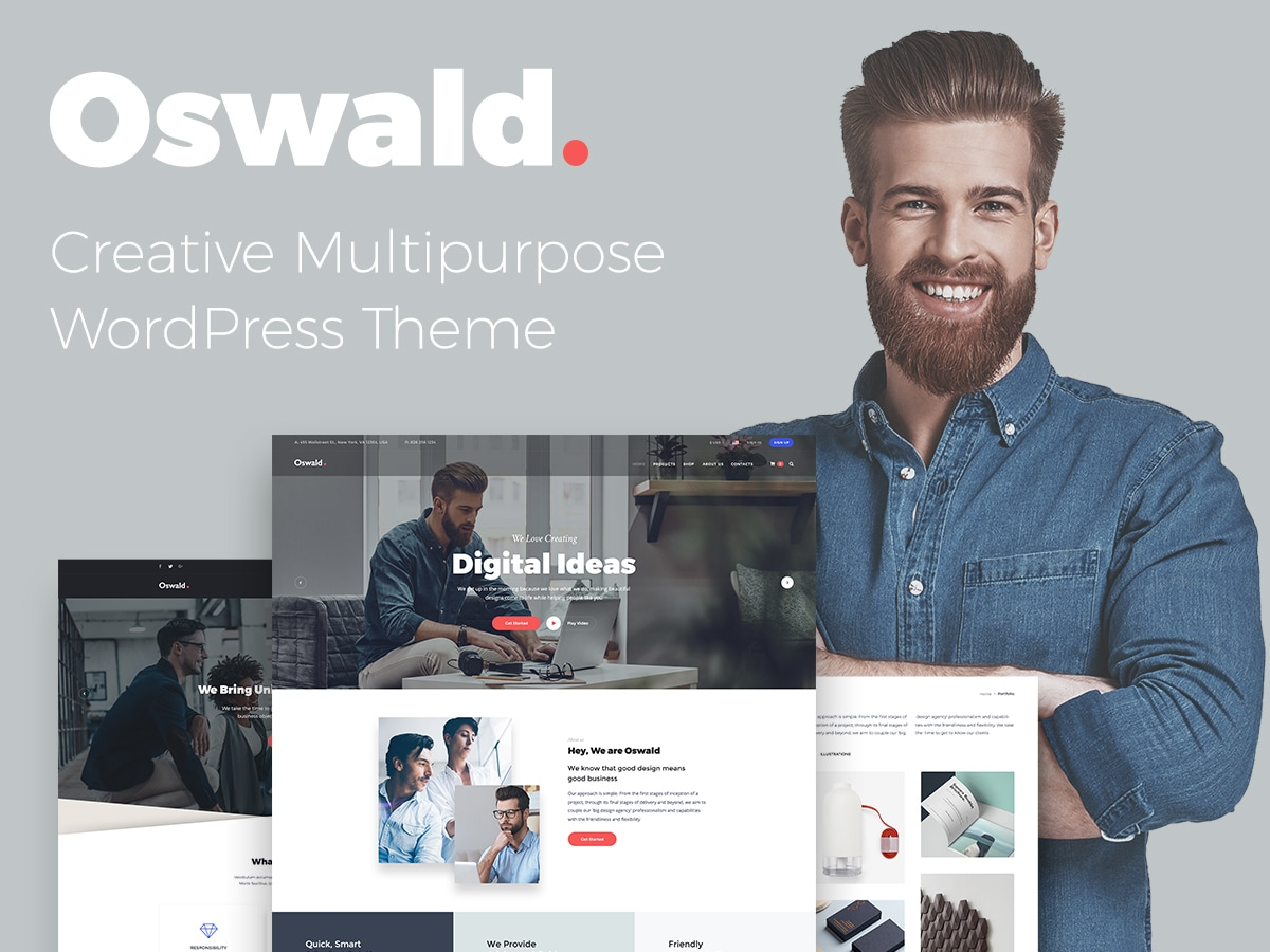WP Daddy Proudly Presents Oswald Creative Multipurpose WordPress Theme - Review