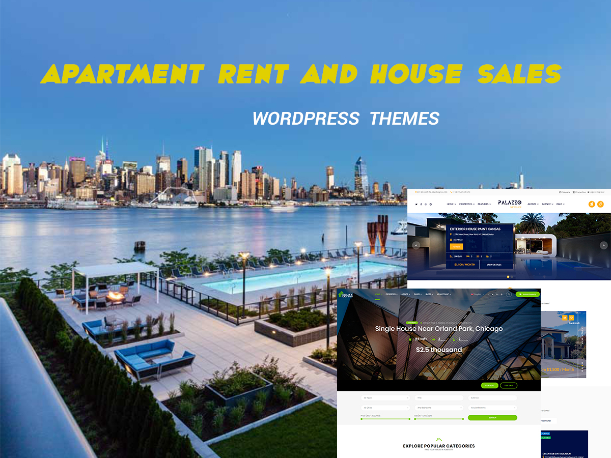 Apartment Rent and House Sales WordPress Themes