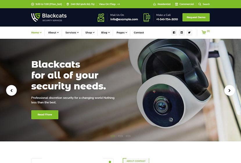 Blackcats - CCTV & Security WordPress Theme
