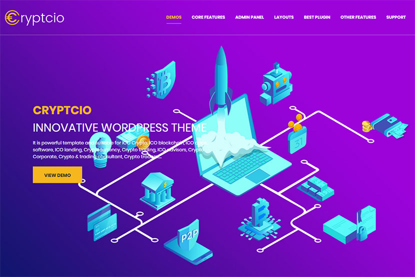 Cryptocurrency WordPress Themes for Miners and Traders - WP Daddy