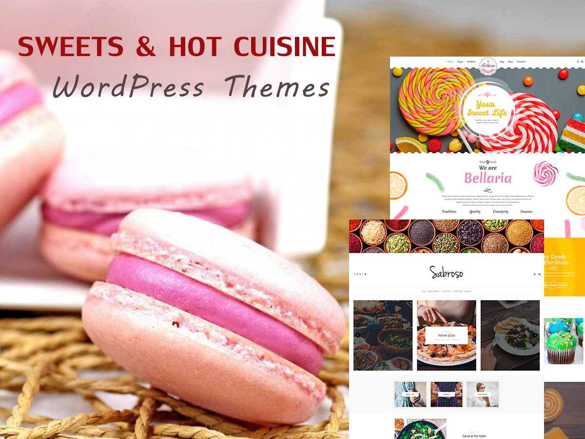 Sweets and Hot Cuisine WordPress Themes for Restaurants and Cafes