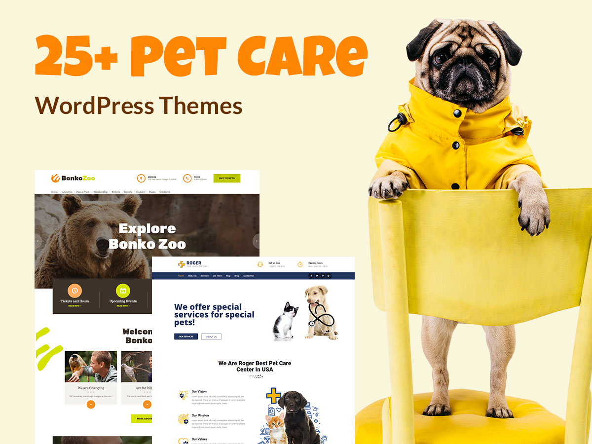 25+ Pet Care WordPress Themes for Dog Breeders, Cat Addicts and More