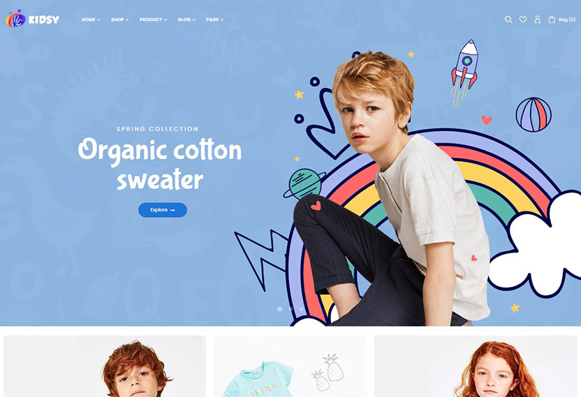Kidsy – Kids Store and Baby Shop WooCommerce Theme