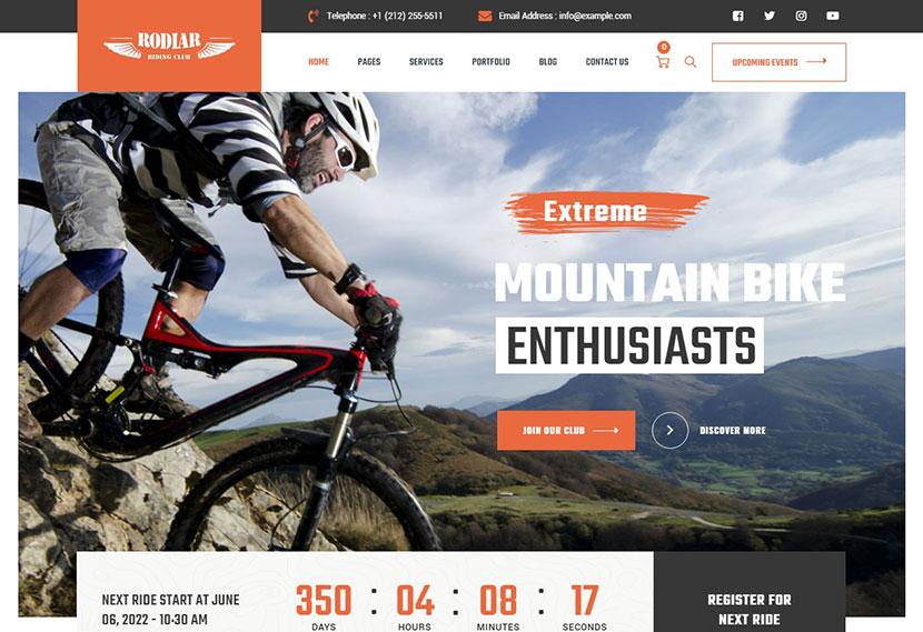 Rodiar - Riders Club WordPress Theme