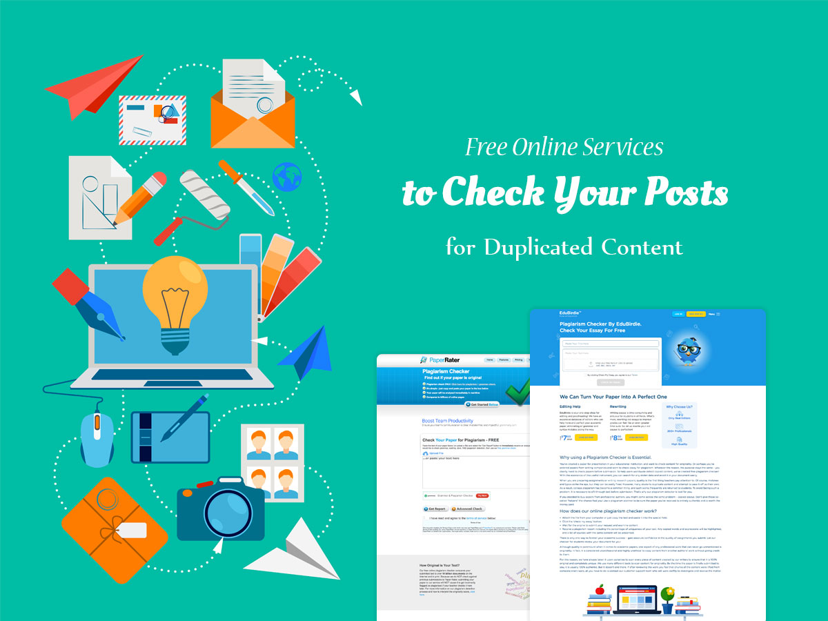 Free Online Services to Check Your Posts for Duplicated Content