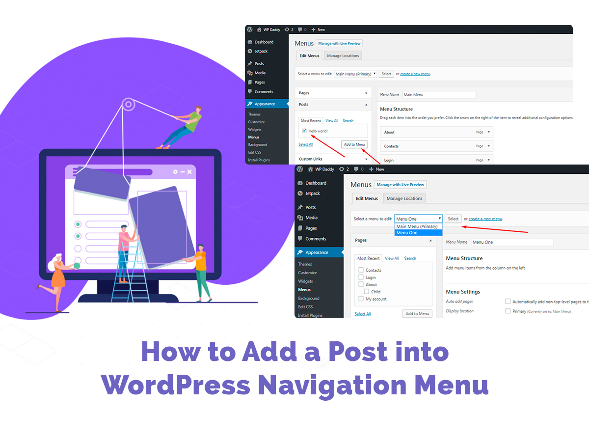 How-to-Add-a-Post-into-WordPress-Navigation-Menu 1