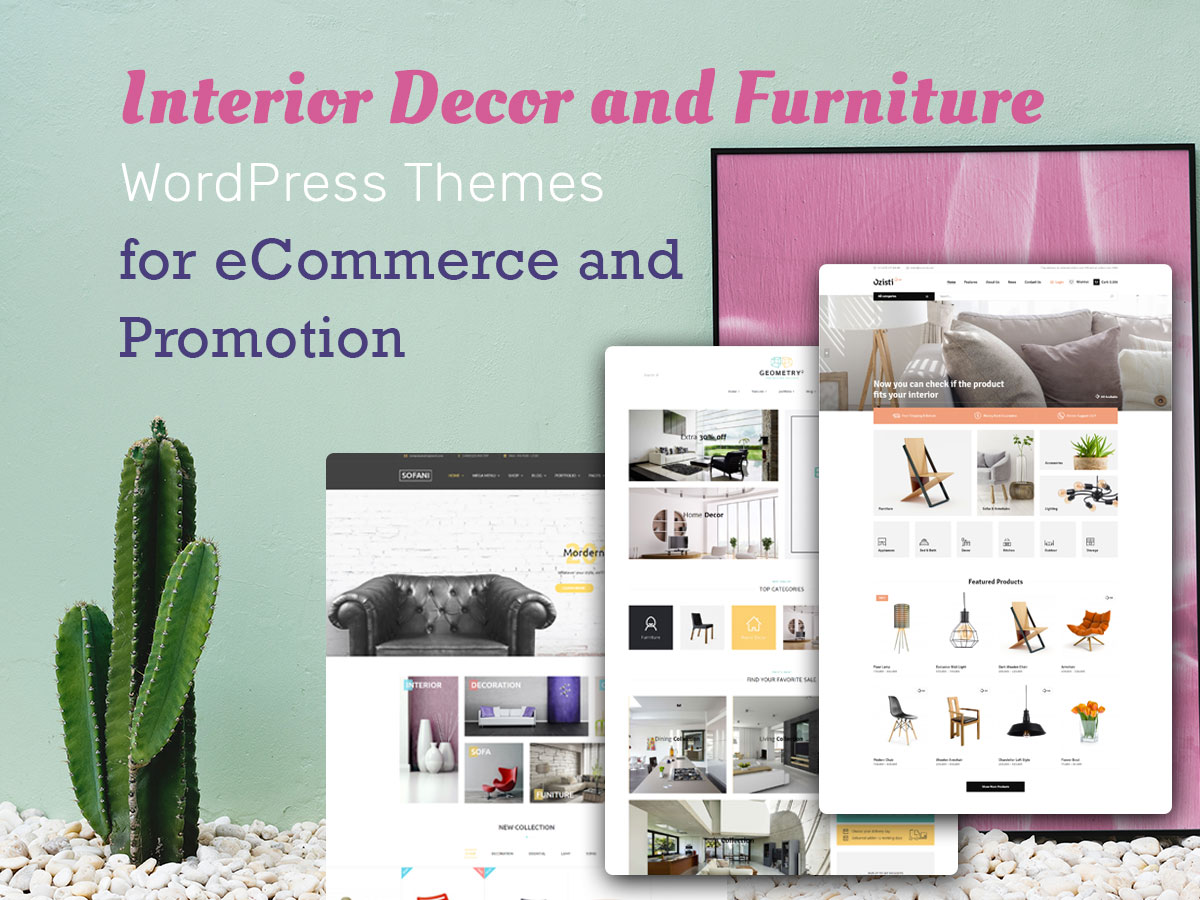 Interior Decor and Furniture WordPress Themes for eCommerce and Promotion