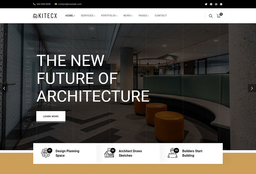 Kitecx - Architecture & Interior WordPress Theme