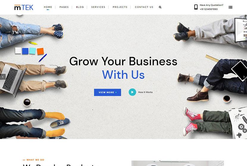 MightyTek IT Services & Technology WordPress Theme