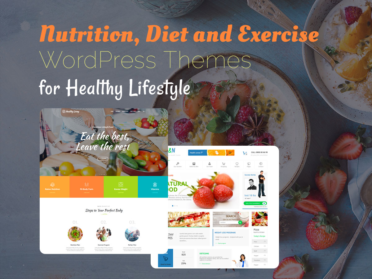 Nutrition Diet and Exercise WordPress Themes for Healthy Lifestyle