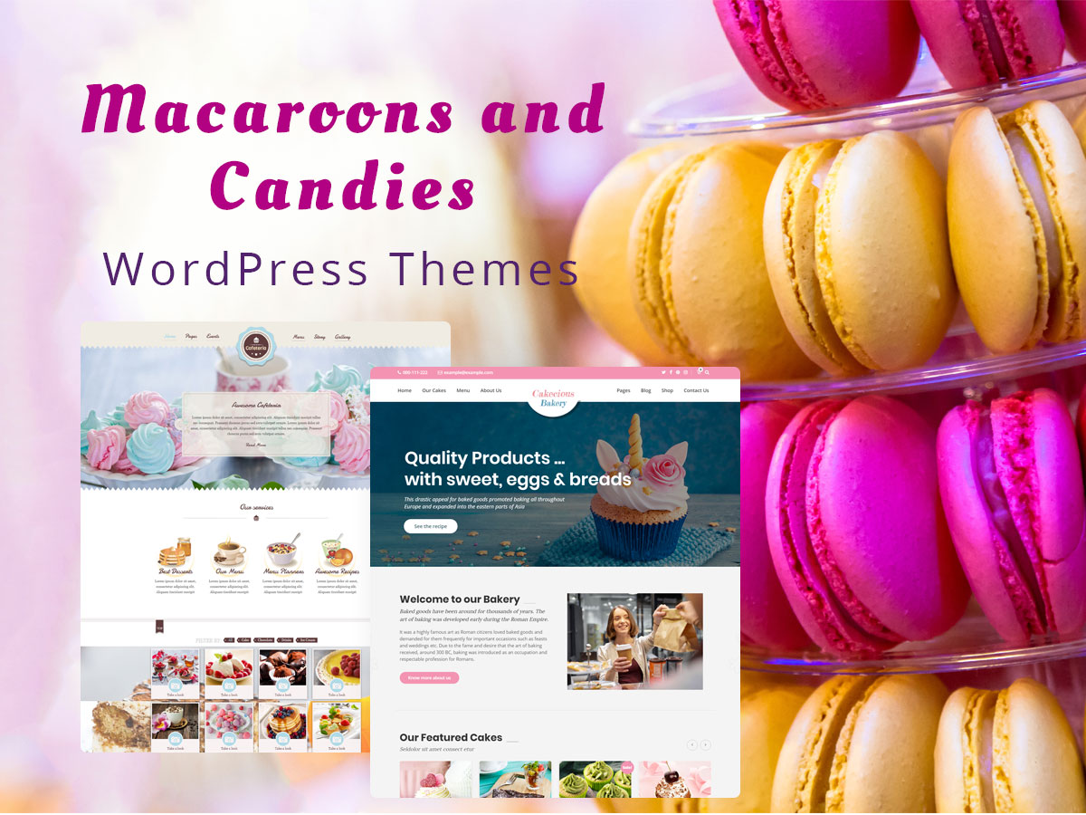 Macaroons and Candies WordPress Themes for Confectioneries and Chocolateries