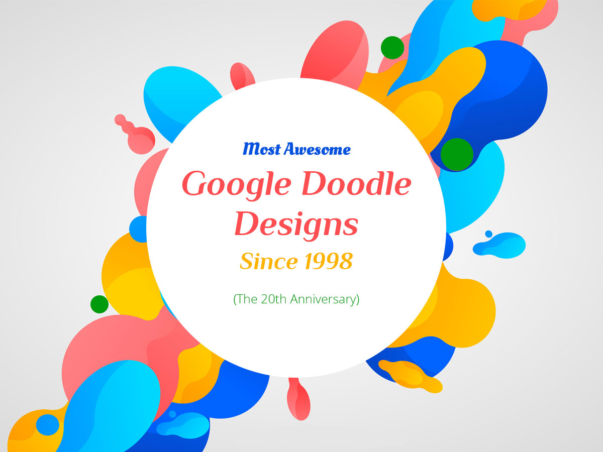 Most Awesome Google Doodle Designs Since 1998 (For the 20th Anniversary)