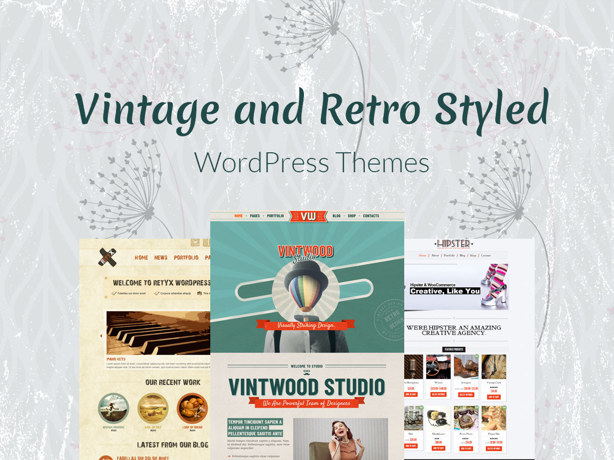 Vintage and Retro Styled WordPress Themes