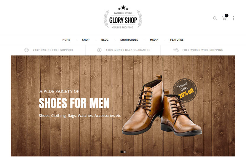 Shoemaking and Shoes Store WordPress Themes - Fall 2018 - WP Daddy