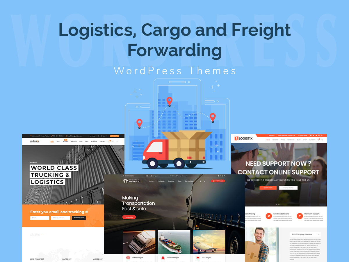 Logistics, Cargo and Freight Forwarding WordPress Themes - WP Daddy