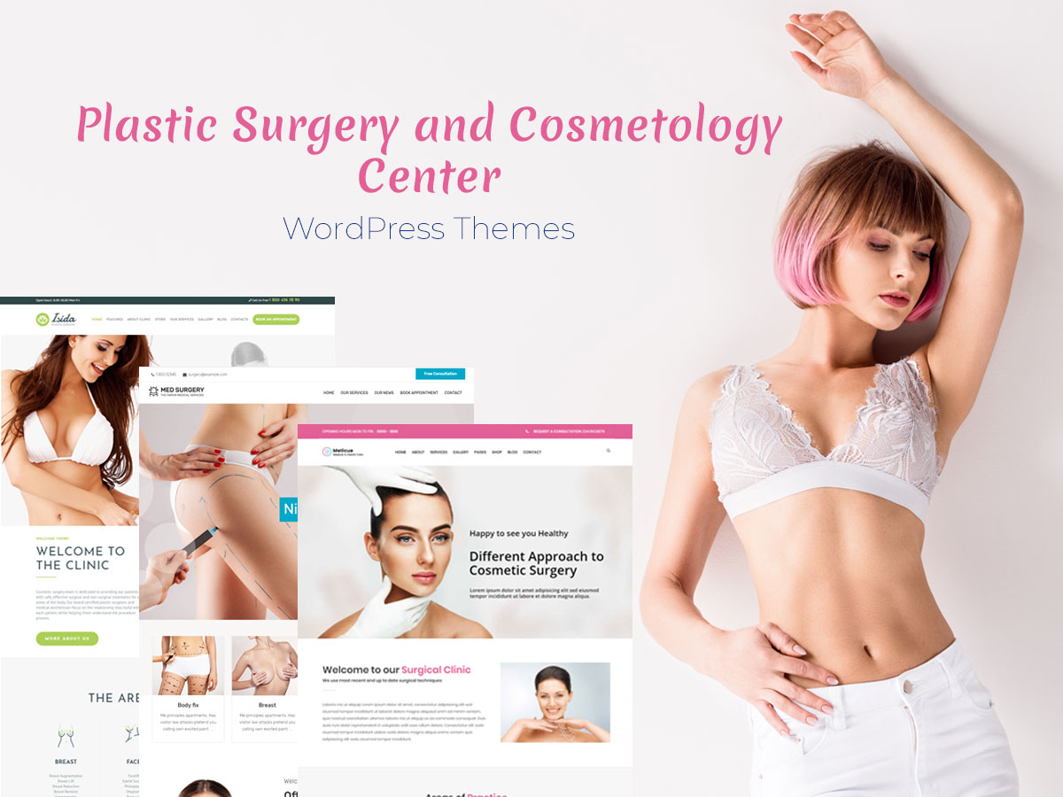 Plastic Surgery and Cosmetology Center WordPress Themes for Clinics and Surgeons