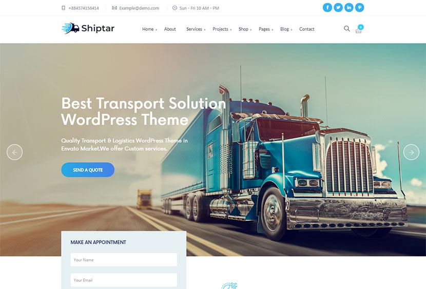 Logistics, Cargo and Freight Forwarding WordPress Themes