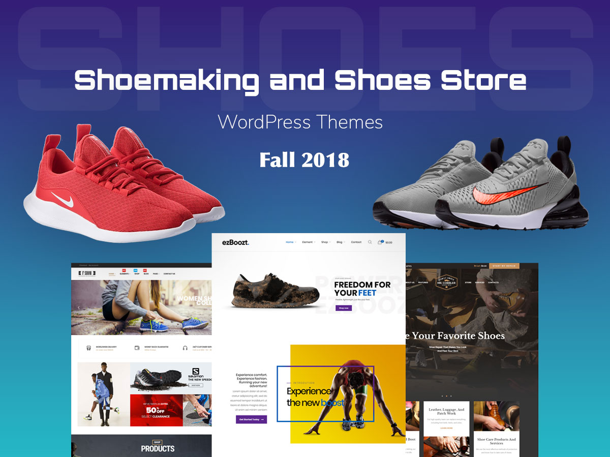 Shoemaking and Shoes Store WordPress Themes - Fall 2018