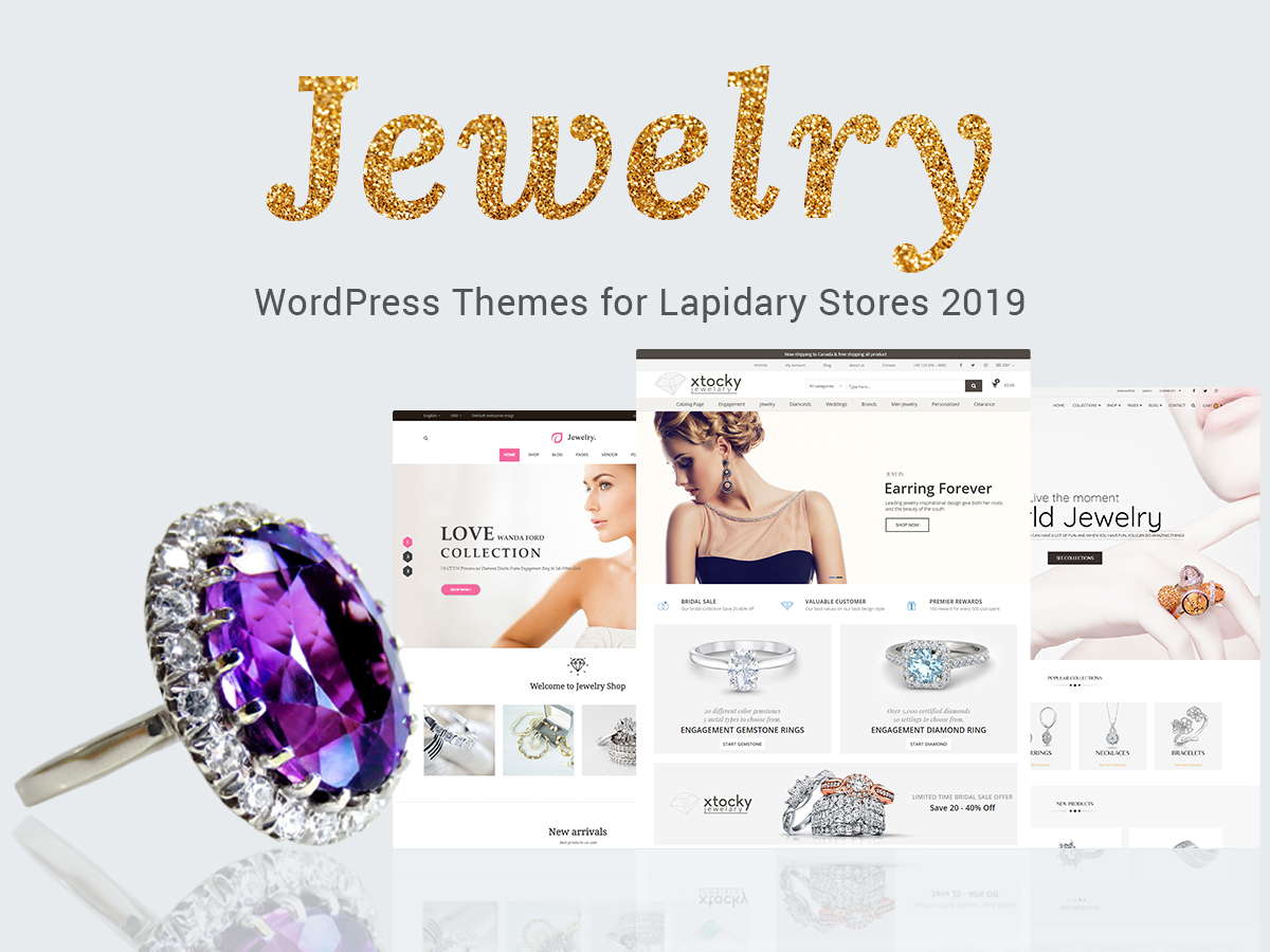 20 Jewelry WordPress Themes for Lapidary Stores 2019 - WP Daddy