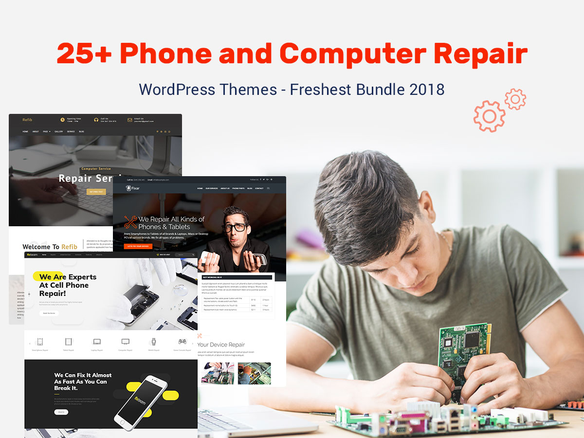 25 Phone and Computer Repair WordPress Themes - Freshest Bundle 2018