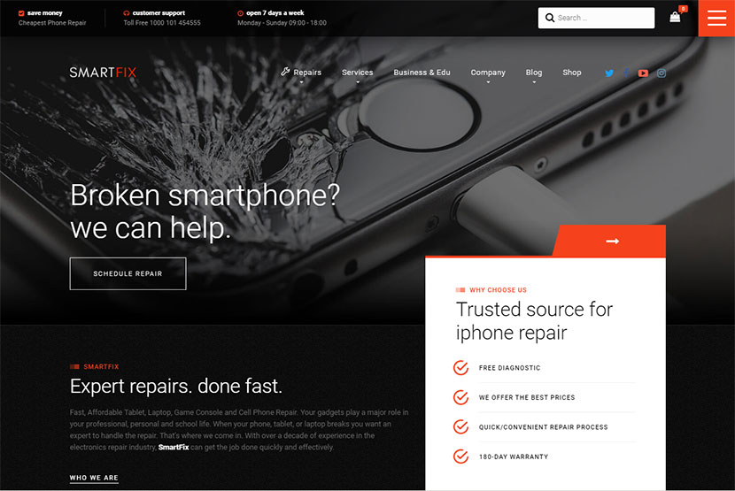 25+ Phone and Computer Repair WordPress Themes - WP Daddy