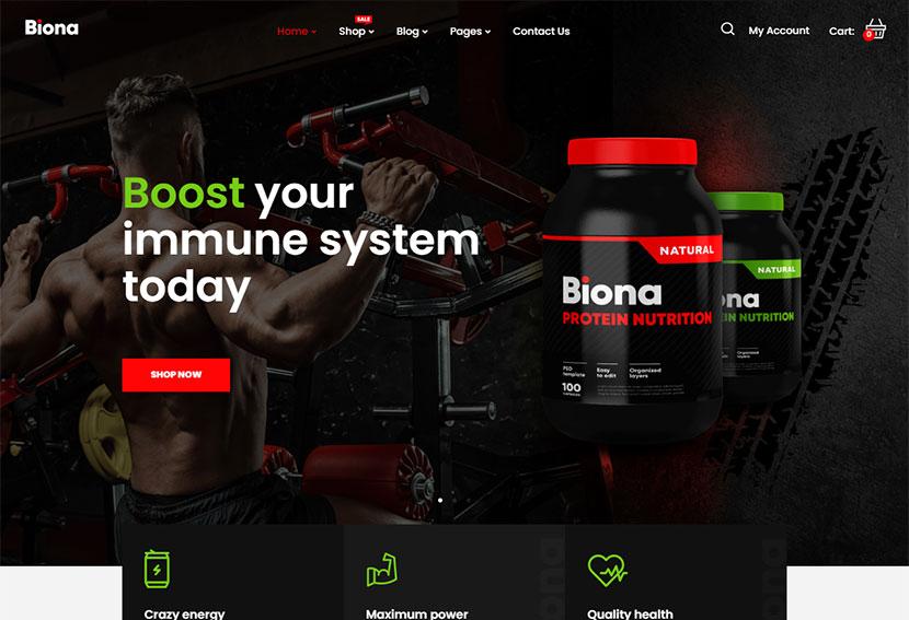 Biona - Sports Nutrition WooCommerce Theme