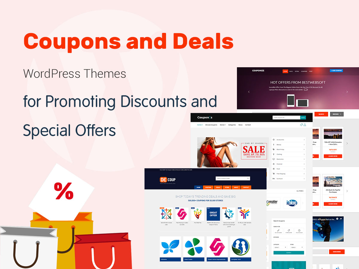 Coupons and Deals WordPress Themes for Promoting Discounts and Special Offers