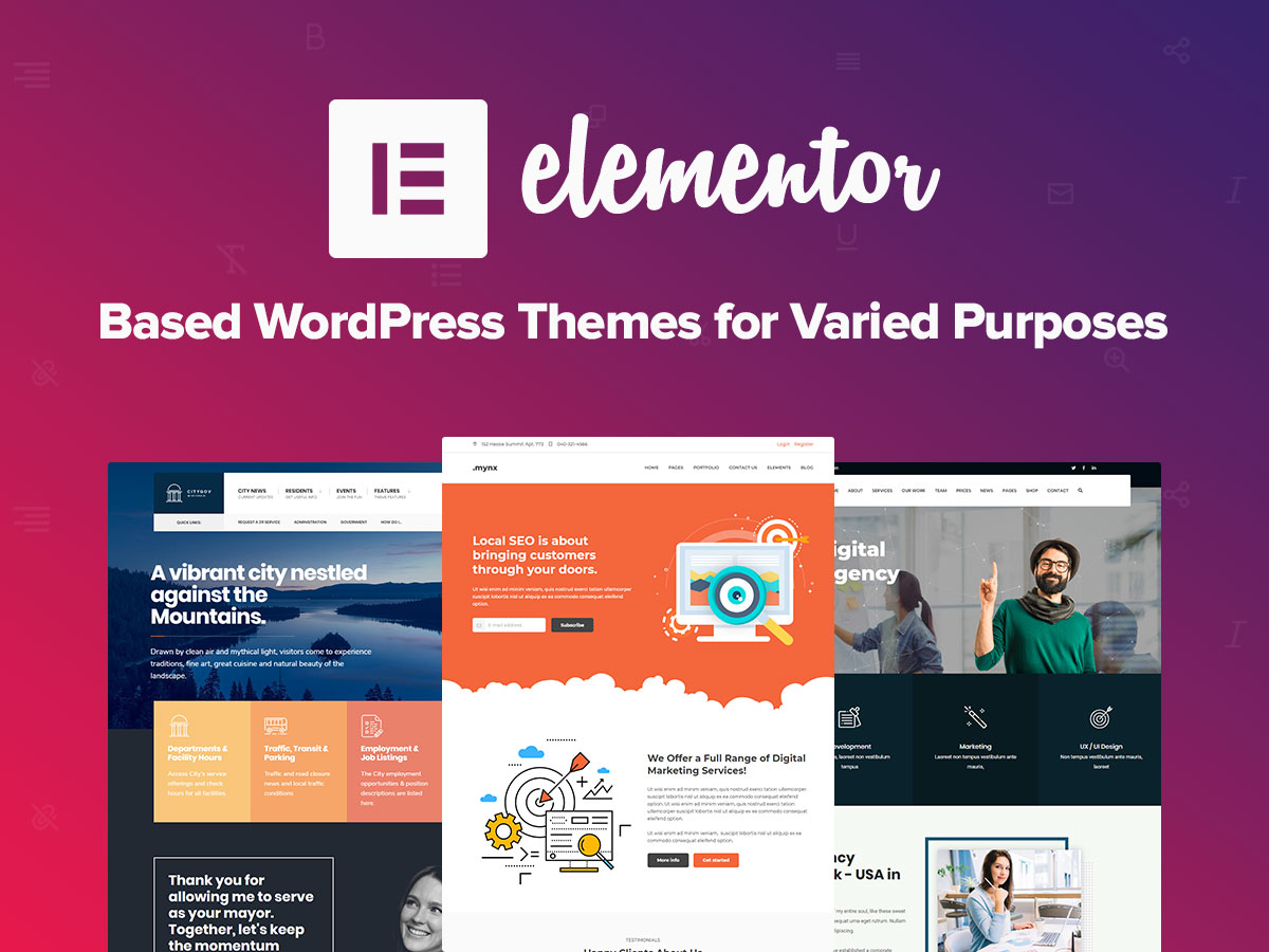 Elementor Based WordPress Themes for Varied Purposes