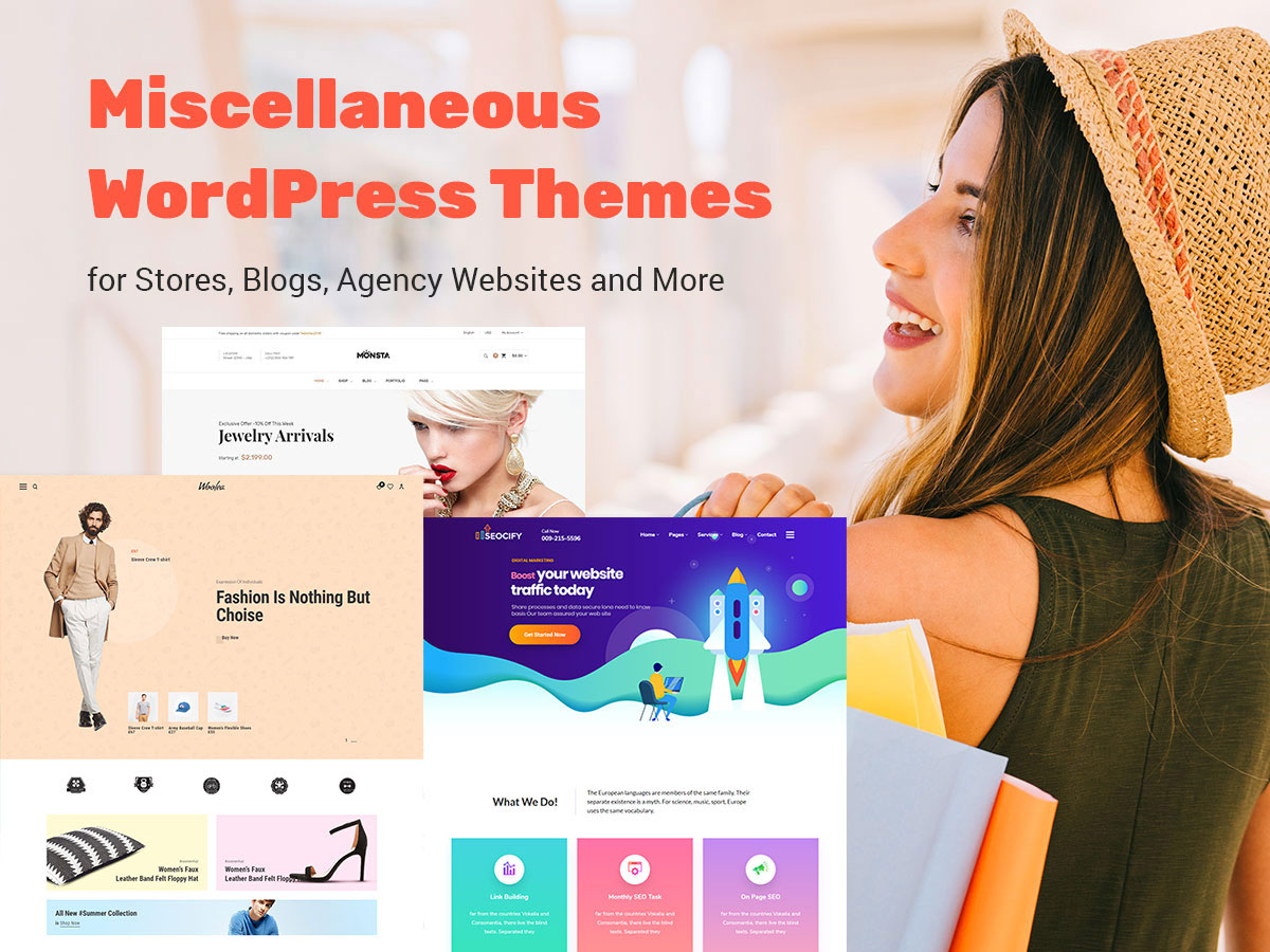 Miscellaneous WordPress Themes for Stores, Blogs, Agency Websites