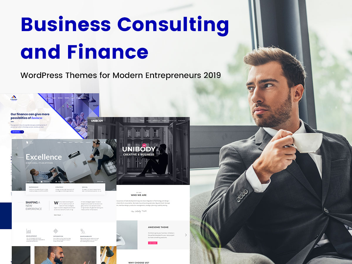 Business Consulting and Finance WordPress Themes for Modern Entrepreneurs 2019
