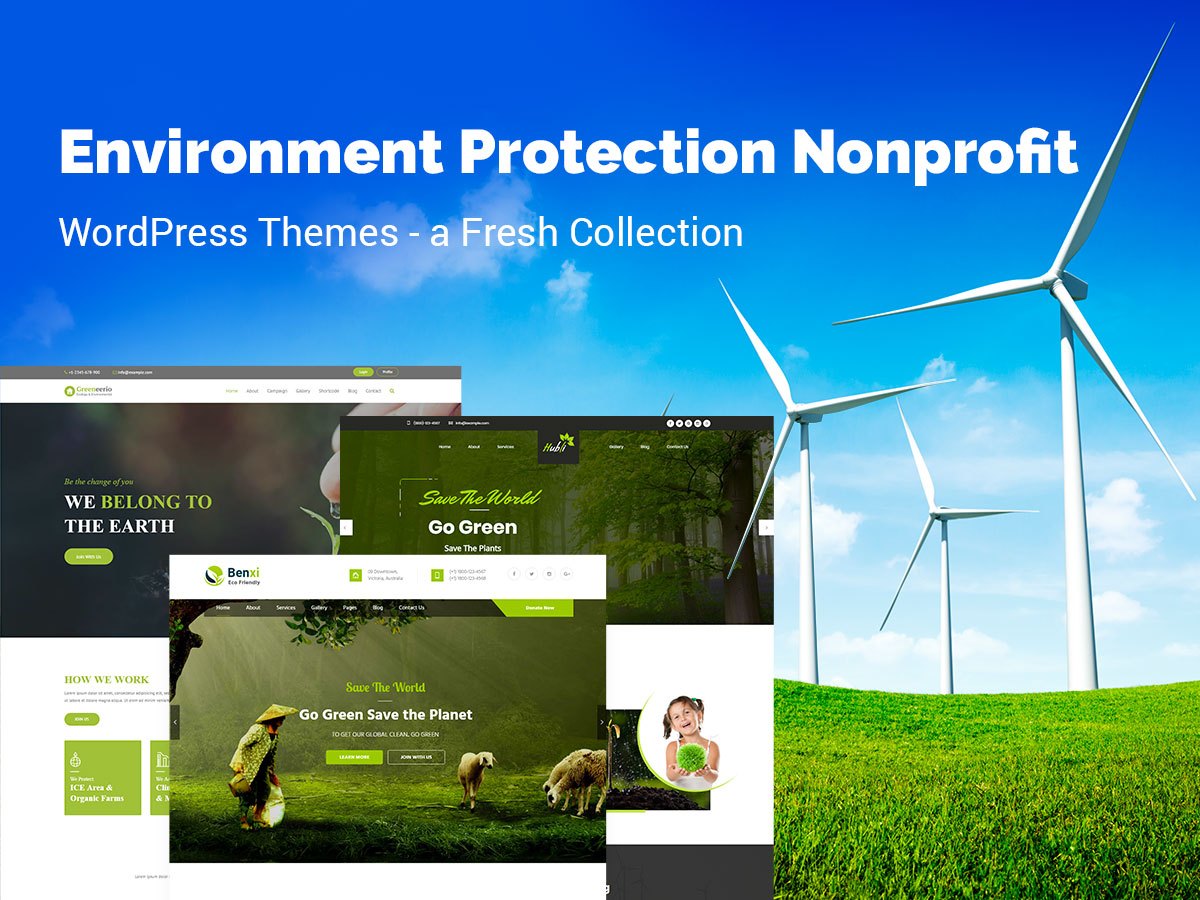 Environment Protection Nonprofit WordPress Themes - a Fresh Collection