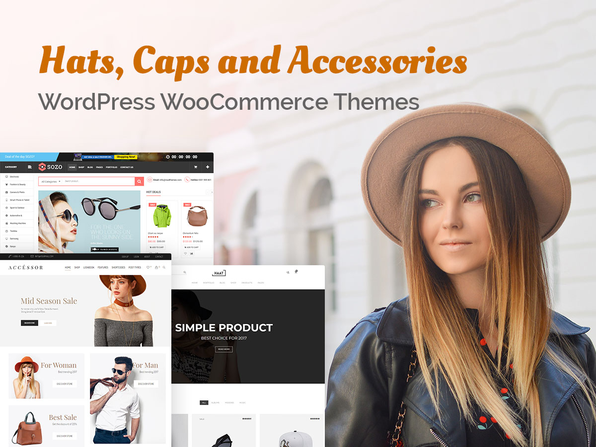 Hats, Caps and Accessories WordPress WooCommerce Themes for Fashion Stores