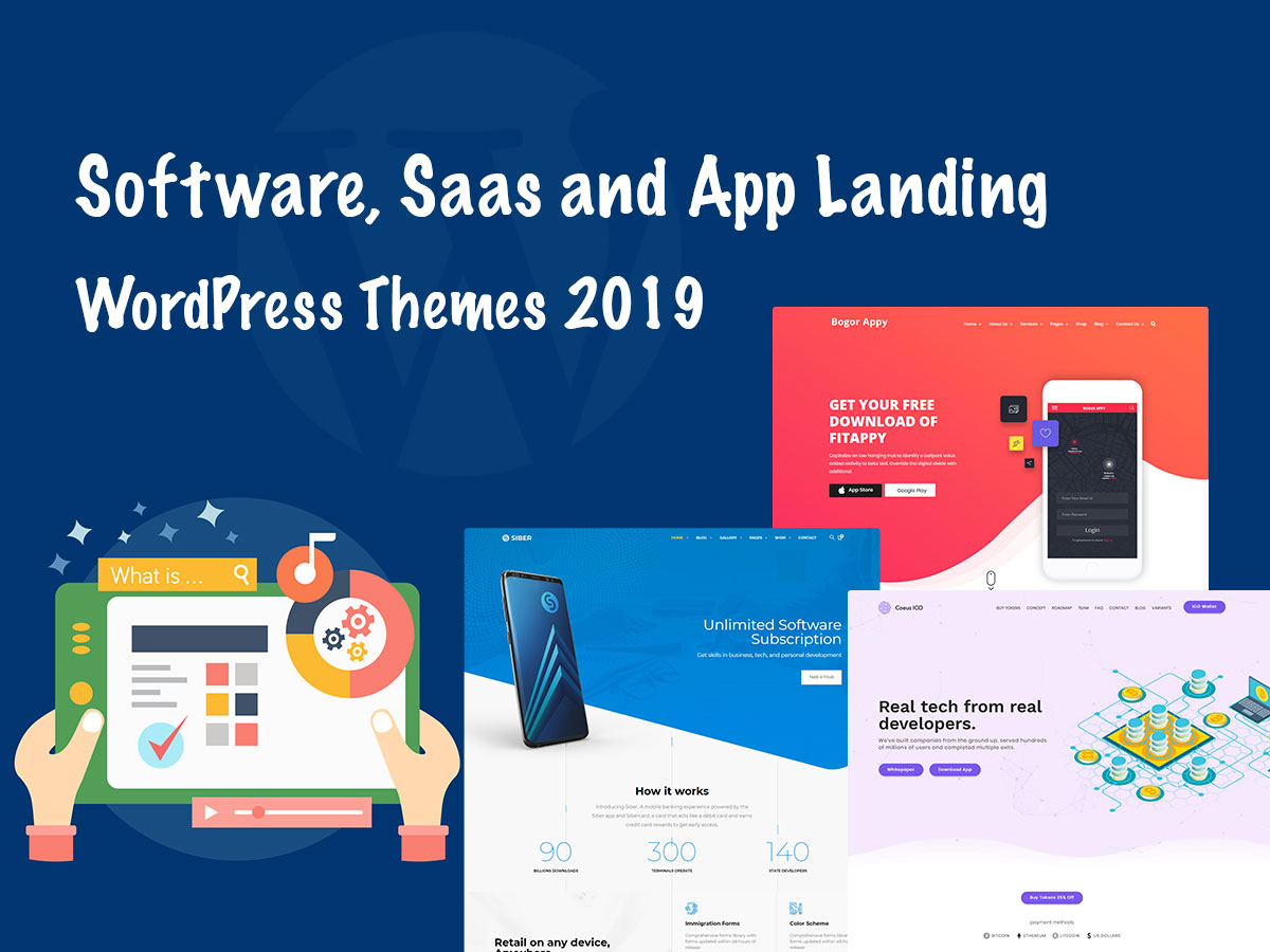 Software, Saas and App Landing WordPress Themes 2019