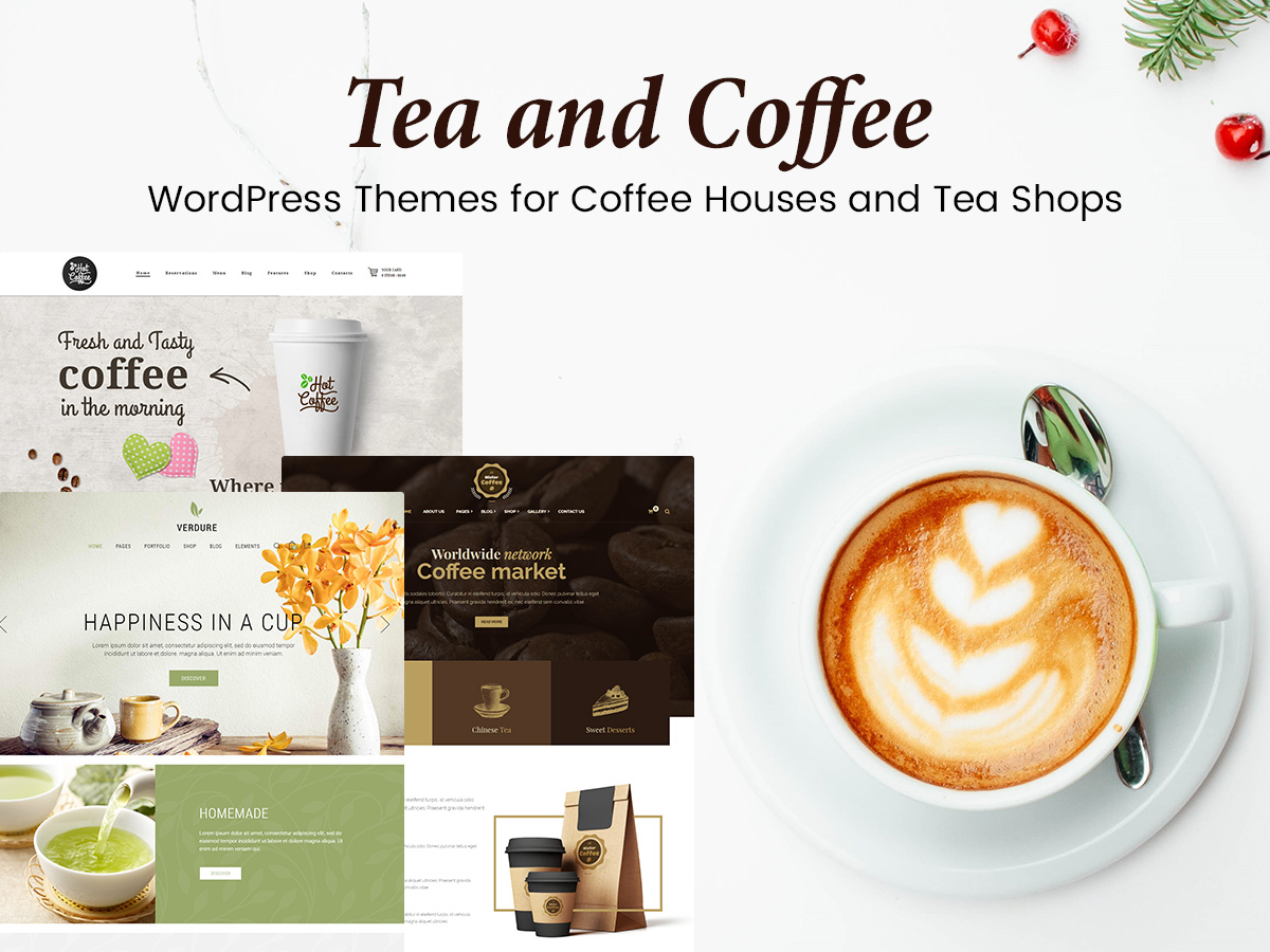 Tea and Coffee WordPress Themes for Coffee Houses and Tea Shops