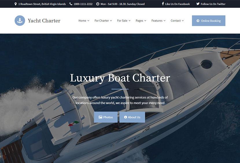 Yachting and Fishing WordPress Themes - Winter 2019 - WP Daddy