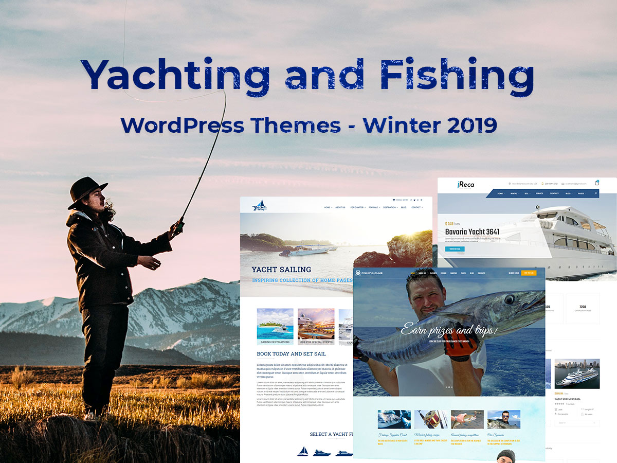 Yachting and Fishing WordPress Themes - Winter 2019