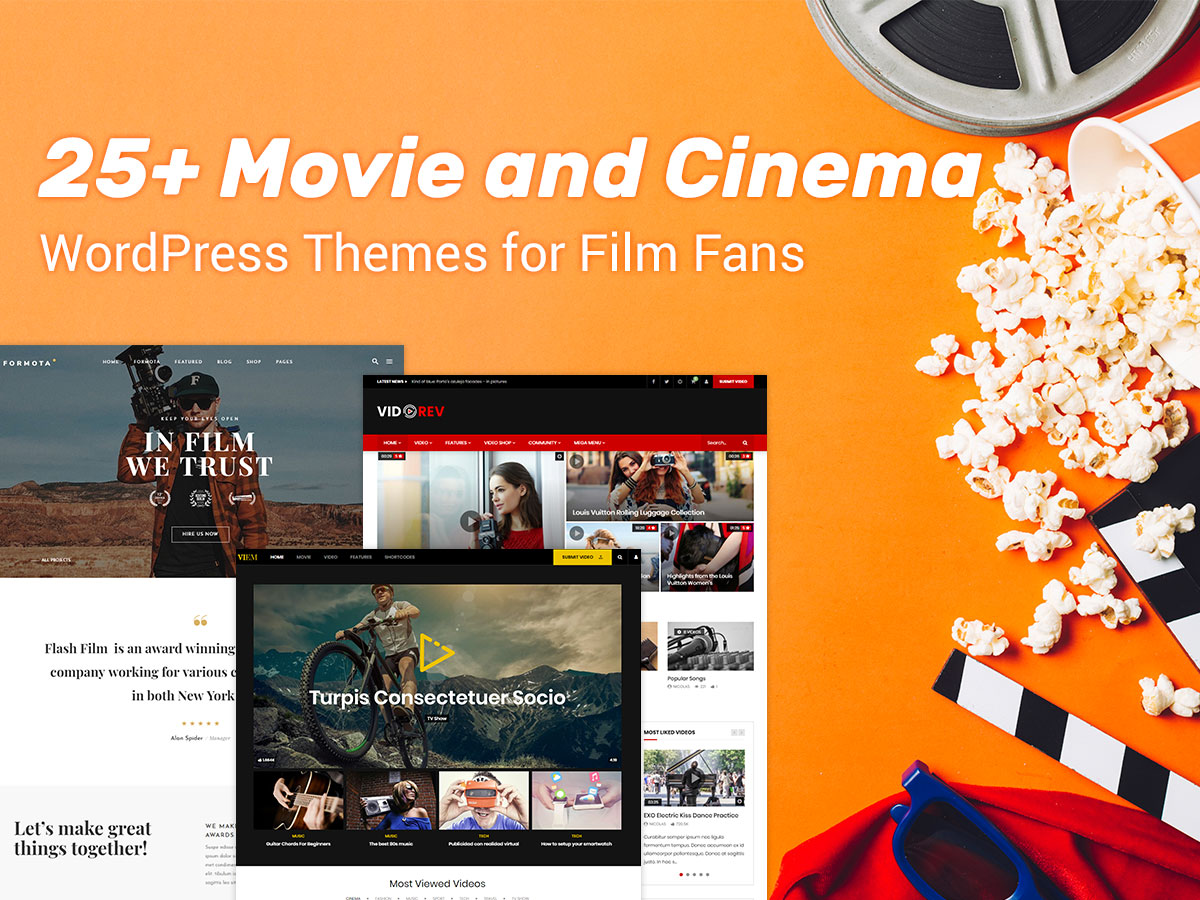 25+ Movie and Cinema WordPress Themes for Film Fans