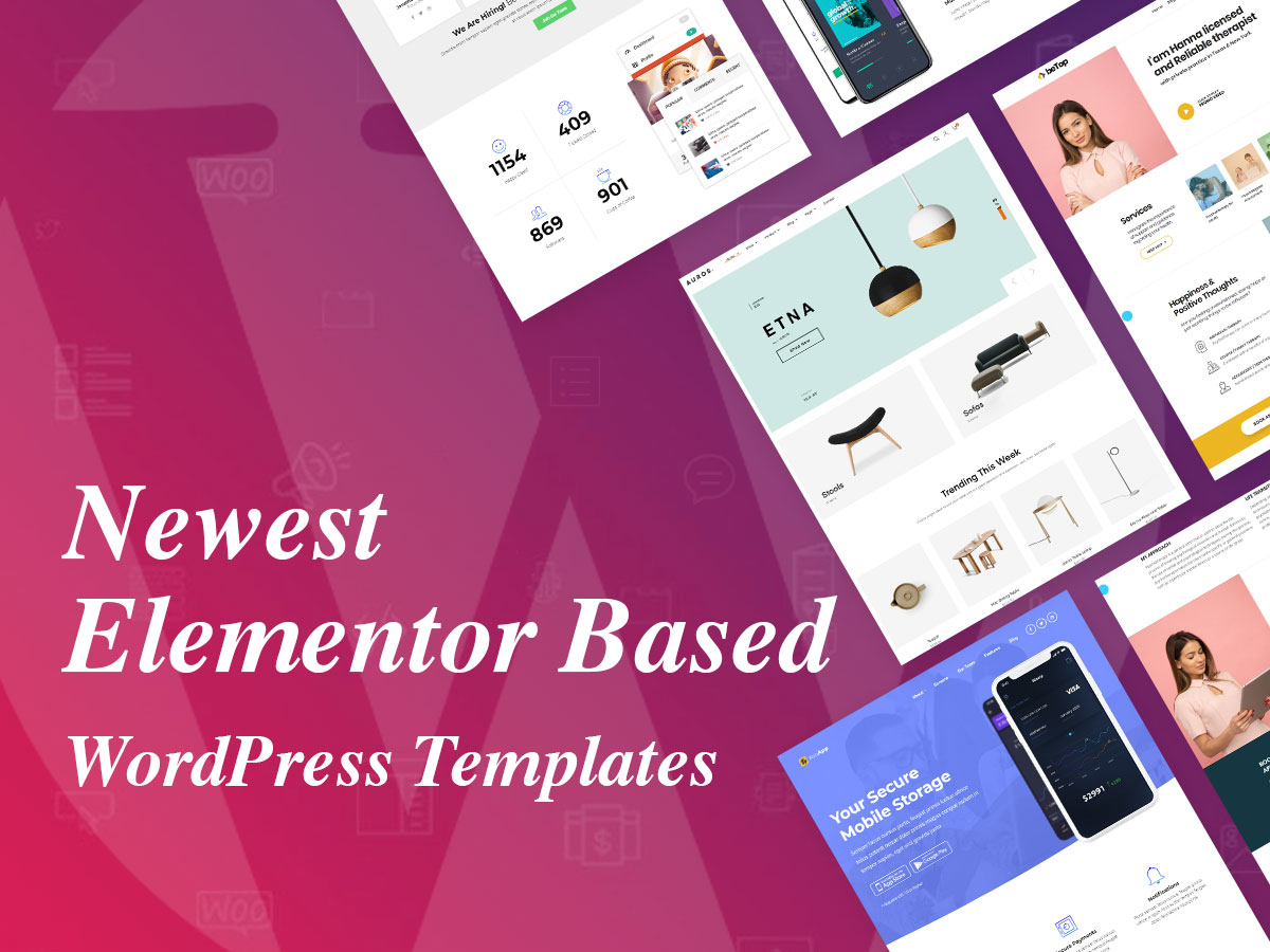 Newest Elementor Based WordPress Templates for a Host of Concepts